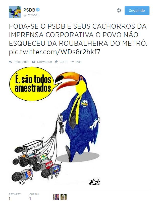 Tuíte PSDB 2