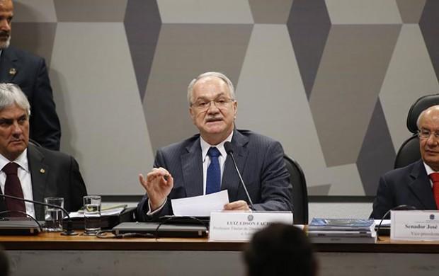 Luiz Fachin na sabatina no Senado
