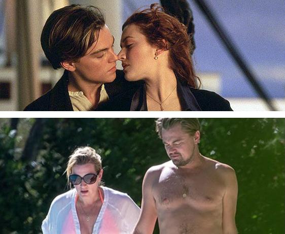 """Leonardo DiCaprio e Kate Winslet em """"Titanic"""""""