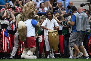 Ronaldinho no final da Copa (Cristophe Simon/AFP)